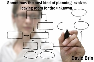DAVID BRIN: Sometimes the best kind of planning involves leaving room for the unknown.