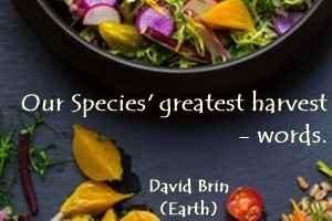 DAVID BRIN: Our species' greatest harvest - words.