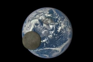 the moon transiting earth