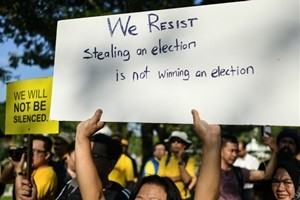 stealing an election is not winning an election