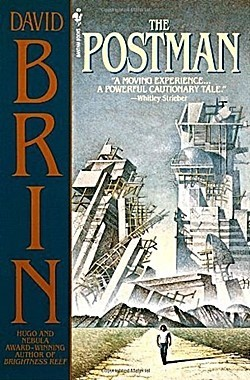 DAVID BRIN's The Postman 1985 cover