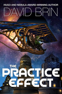 DAVID BRIN's Practice Effect cover for revised edition